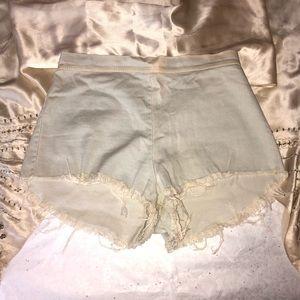 Fashion Nova Light Denim Daisy Duke Shorts
